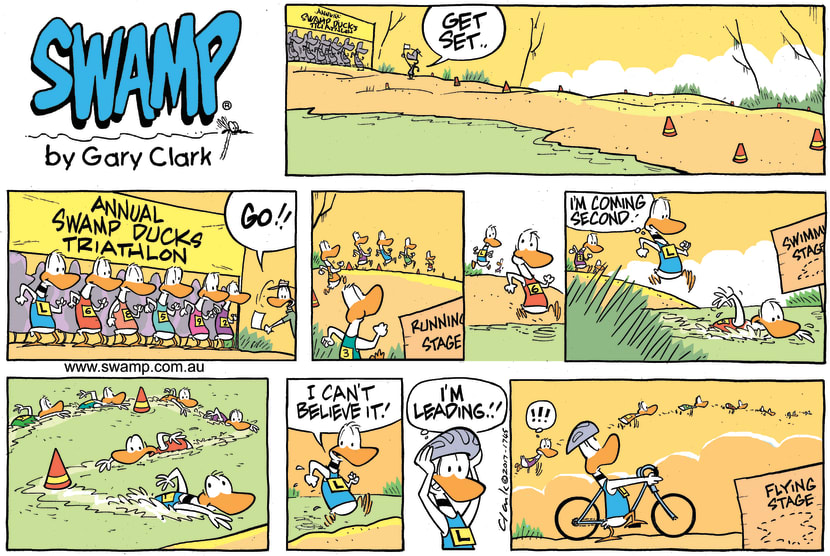 Swamp Cartoon - Ding Duck Triathlon ComicJune 4, 2017