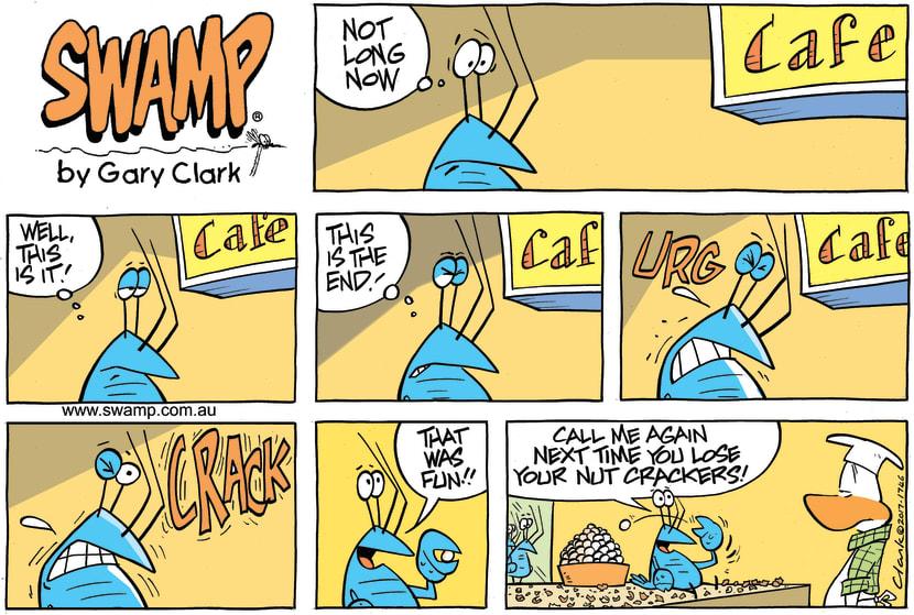 Swamp Cartoon - Bob Crayfish Nuts ComicJune 11, 2017