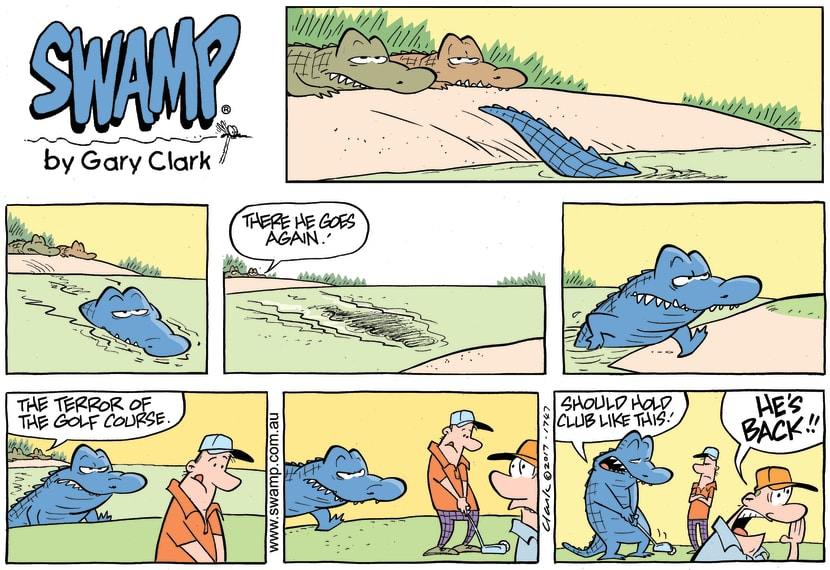 Swamp Cartoon - Chompers Croc Golf Tip ComicJune 18, 2017