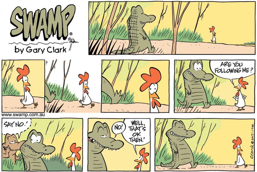 Swamp Cartoon - Nibbles Croc Following ComicJune 25, 2017