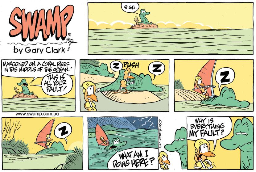Swamp Cartoon - Nit Picker Bird Fault ComicJuly 30, 2017