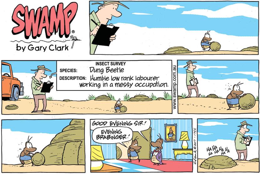 Swamp Cartoon - Sir Dung Beetle ComicAugust 27, 2017