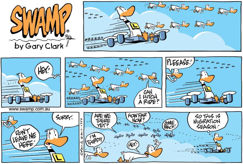 Swamp Cartoon - Ding Duck Migration ComicSeptember 10, 2017