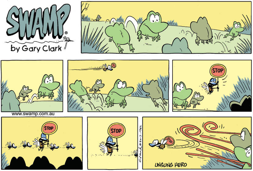 Swamp Cartoon - Swamp Fly Stop FrogsOctober 1, 2017
