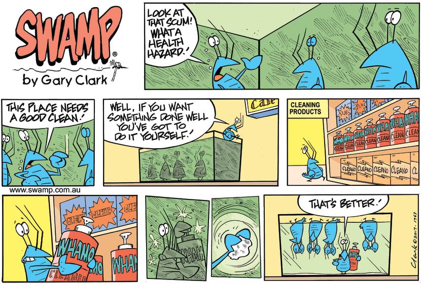 Swamp Cartoon - Bob Crayfish Cleaner ComicOctober 8, 2017