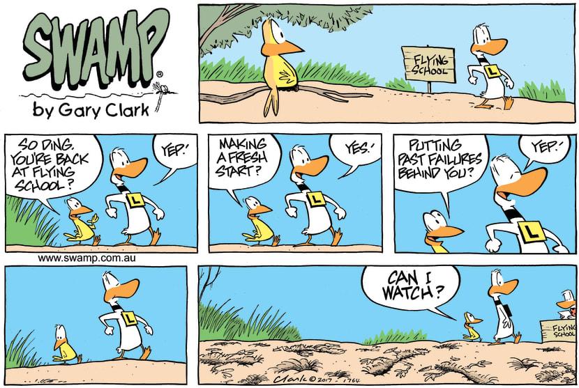 Swamp Cartoon - Ding Duck Failures ComicOctober 15, 2017