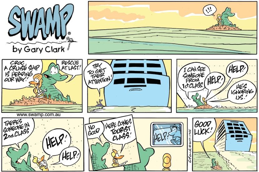 Swamp Cartoon - Old Man Croc Cruise ShipOctober 29, 2017