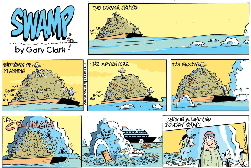 Swamp Cartoon - Chives Rat Holiday Snap ComicNovember 5, 2017