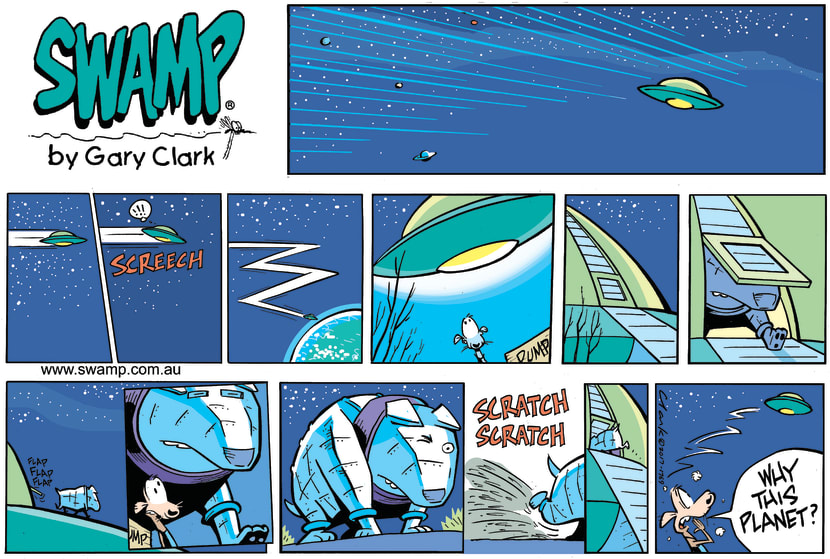 Swamp Cartoon - Cheese Rat Space Ship ComicNovember 19, 2017