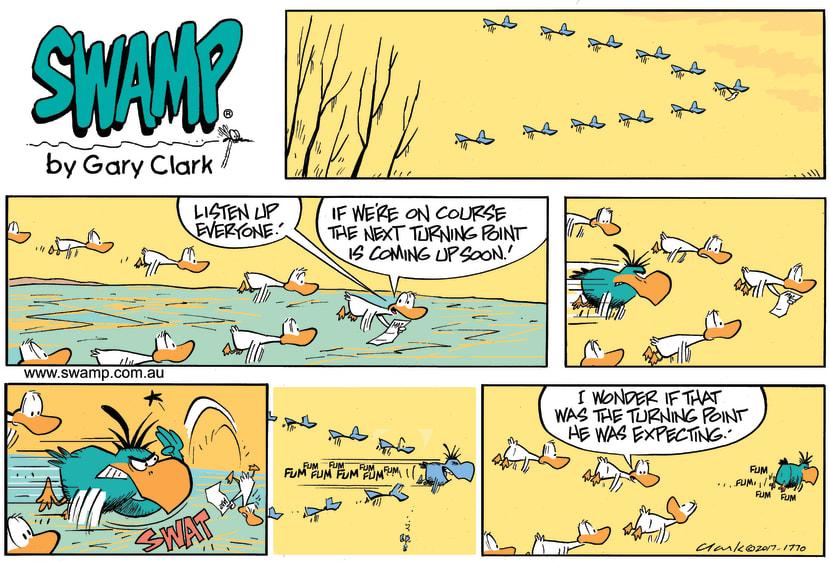 Swamp Cartoon - Bludgerigar Turning Point ComicNovember 26, 2017