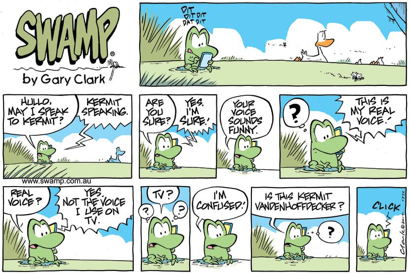 Swamp Cartoon - Mort Frog Kermit ComicDecember 10, 2017