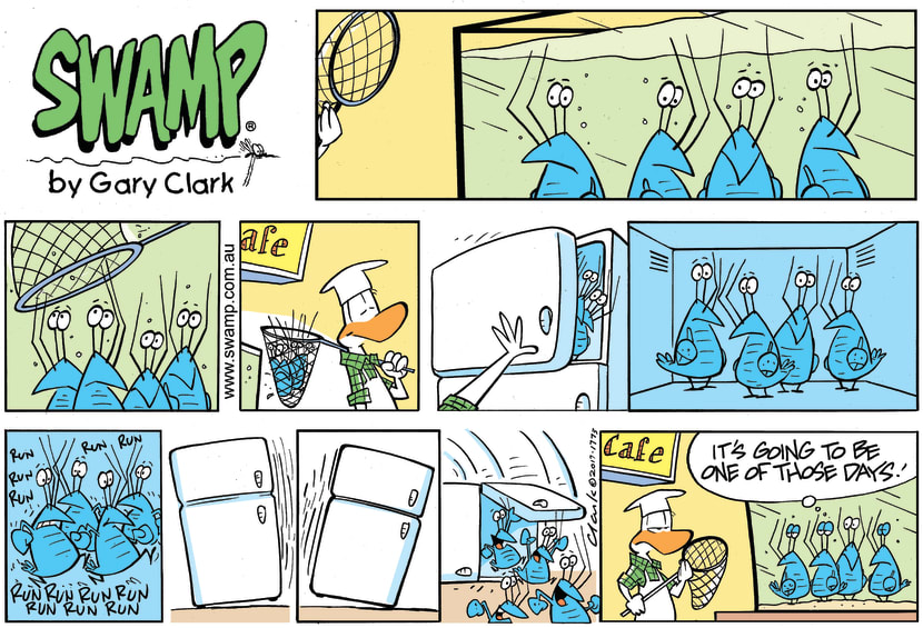 Swamp Cartoon - Bob Crayfish Catch ComicDecember 17, 2017