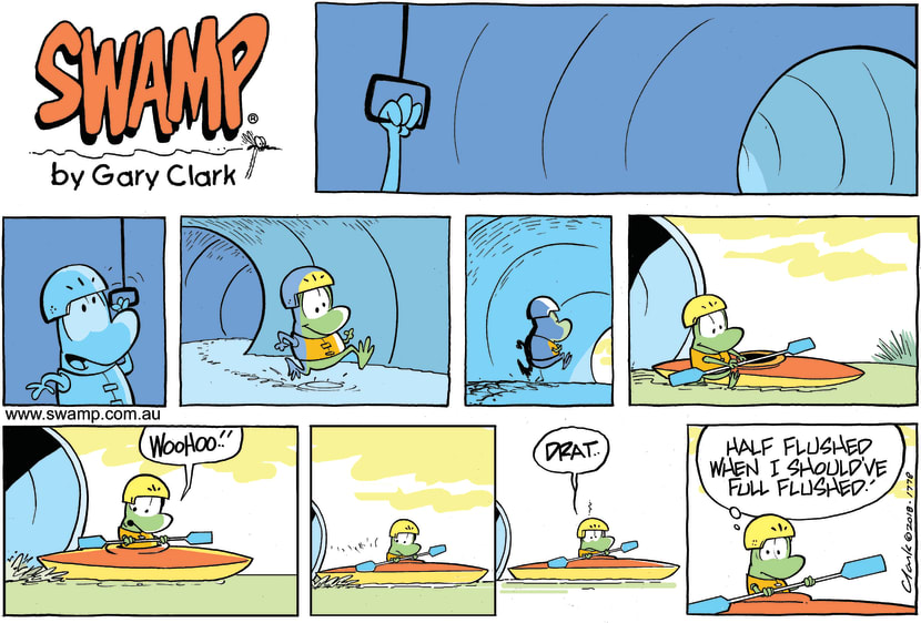 Swamp Cartoon - Mort Frog Flush ComicJanuary 21, 2018