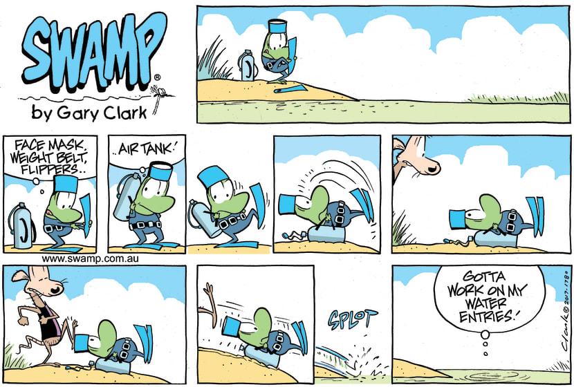 Swamp Cartoon - Mort Frog Entry ComicFebruary 4, 2018