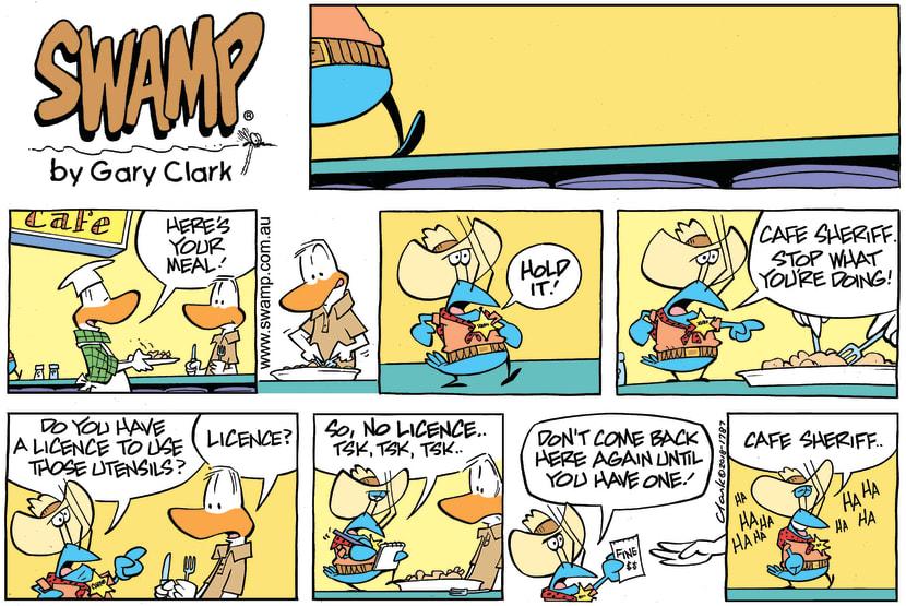 Swamp Cartoon - Bob Crayfish Sheriff ComicMarch 18, 2018