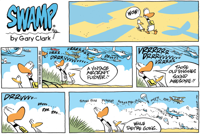 Swamp Cartoon - Ding Duck Vintage Aircraft ComicApril 22, 2018