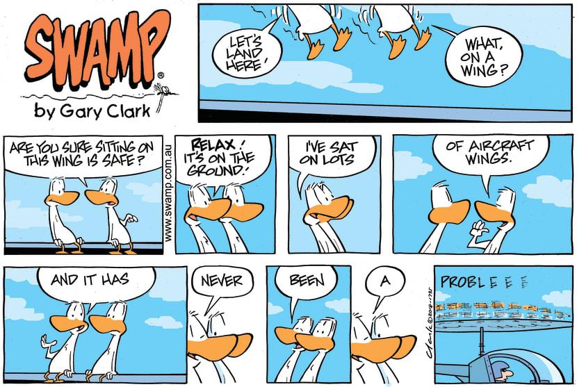 Swamp Cartoon - Swamp Ducks Aircraft Wings ComicMay 20, 2018