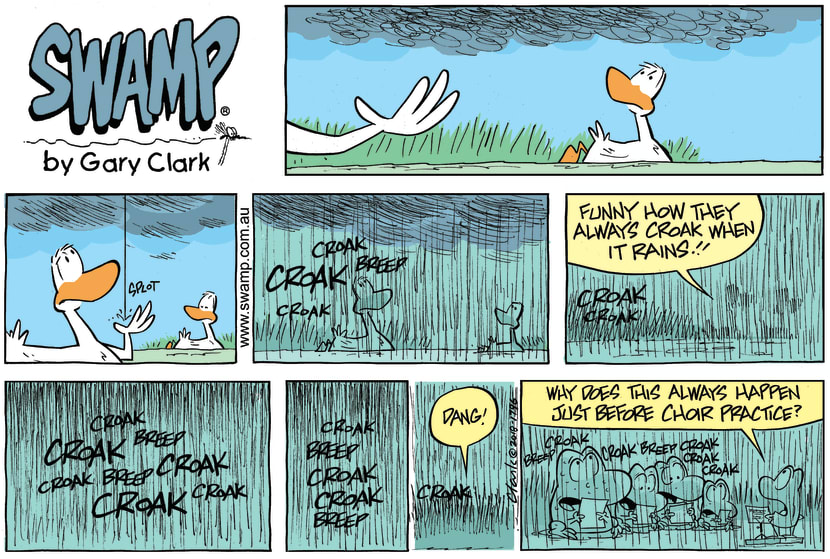 Swamp Cartoon - Frogs Croak When Rains ComicMay 27, 2018