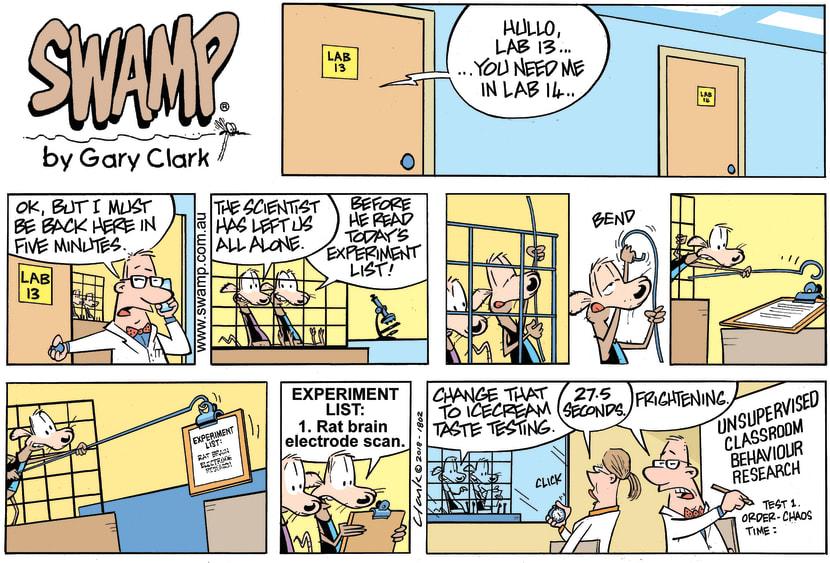 Swamp Cartoon - Swamp Rats Lab Experiment ComicJuly 8, 2018