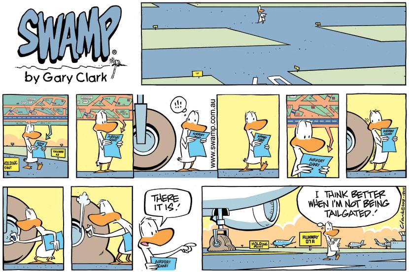Swamp Cartoon - Swamp Duck Tailgated ComicJuly 22, 2018