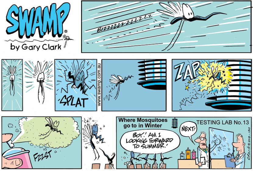 Swamp Cartoon - Swamp Mosquito Lab Tests ComicAugust 26, 2018