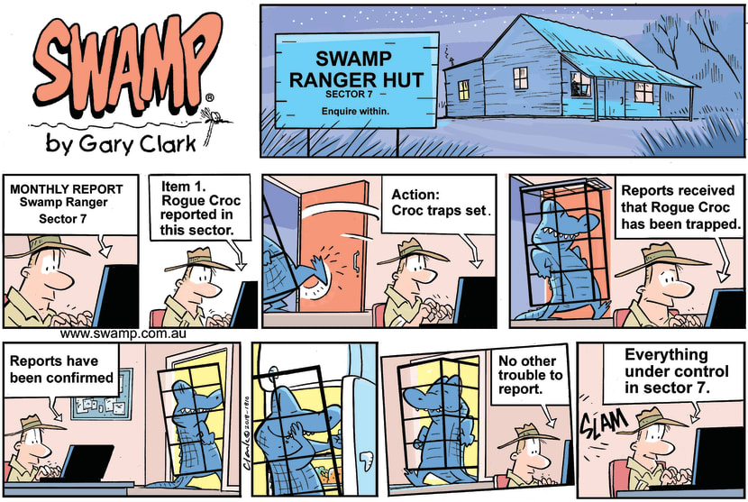 Swamp Cartoon - Rogue Croc TrappedSeptember 2, 2018
