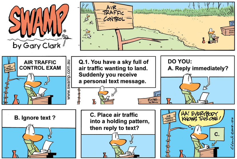 Swamp Cartoon - Air Traffic Controller Question ComicSeptember 30, 2018