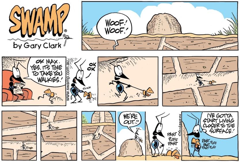 Swamp Cartoon - Swamp Ant Walkies ComicOctober 14, 2018