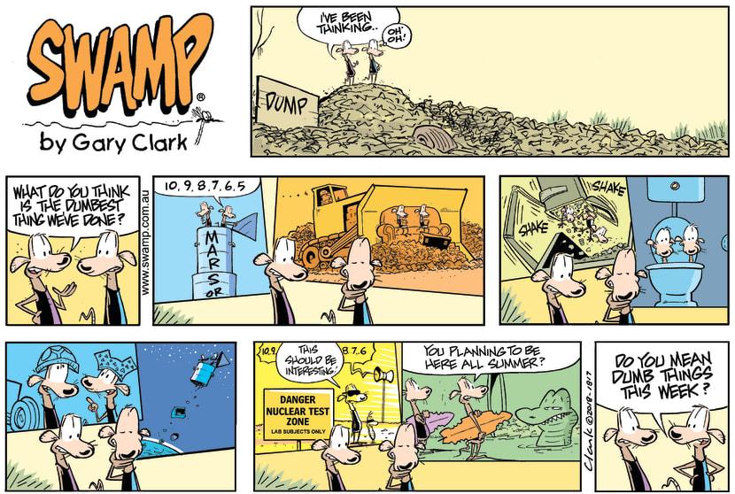 Swamp Cartoon - Swamp Rats Dumb Things ComicOctober 21, 2018