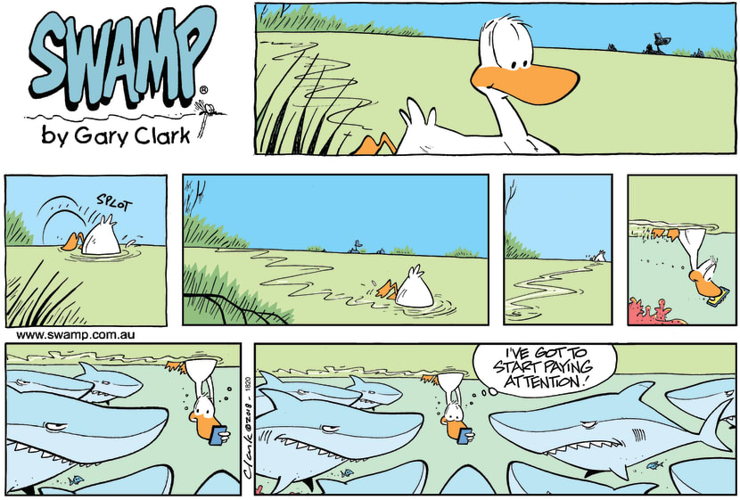 Swamp Cartoon - Swamp Duck Attention ComicNovember 11, 2018