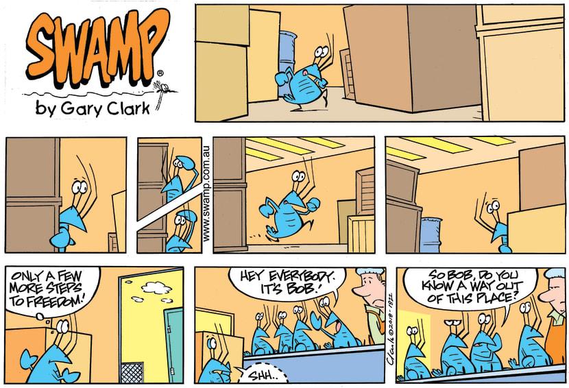 Swamp Cartoon - Bob Crayfish Escape Foiled ComicNovember 25, 2018