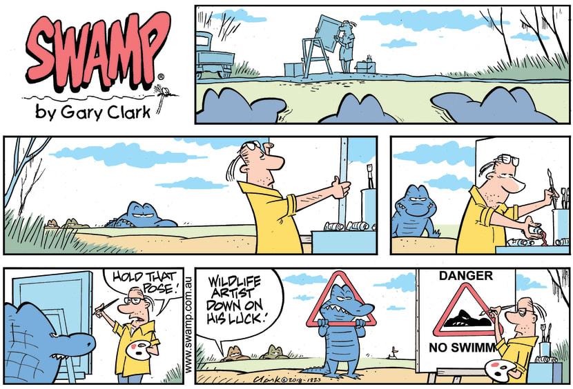 Swamp Cartoon - Nibbles Croc Pose ComicDecember 2, 2018