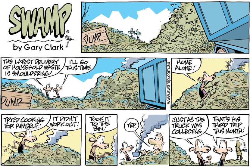Swamp Cartoon - Swamp Rats Home Alone ComicDecember 23, 2018