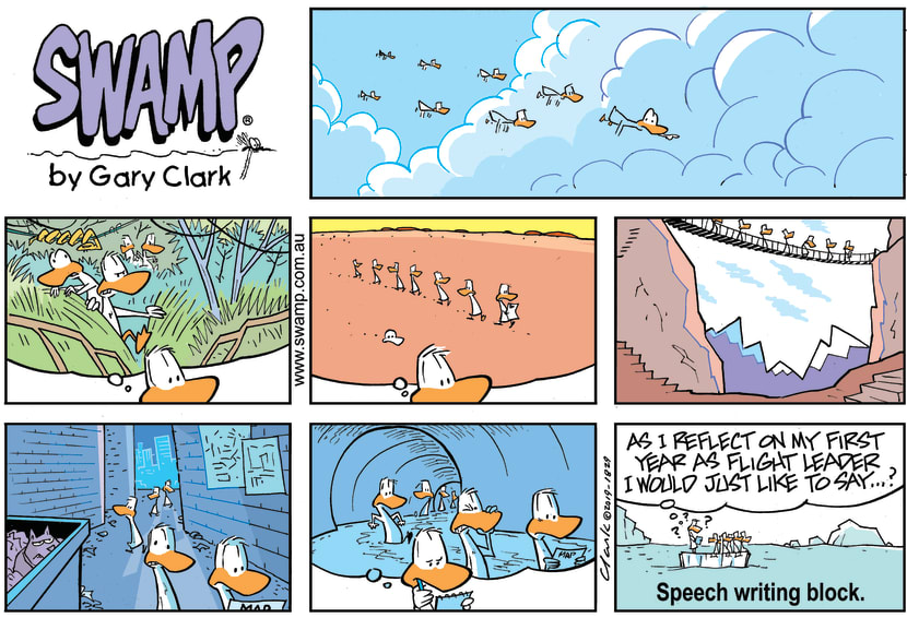 Swamp Cartoon - Swamp Duck Speech ComicJanuary 27, 2019