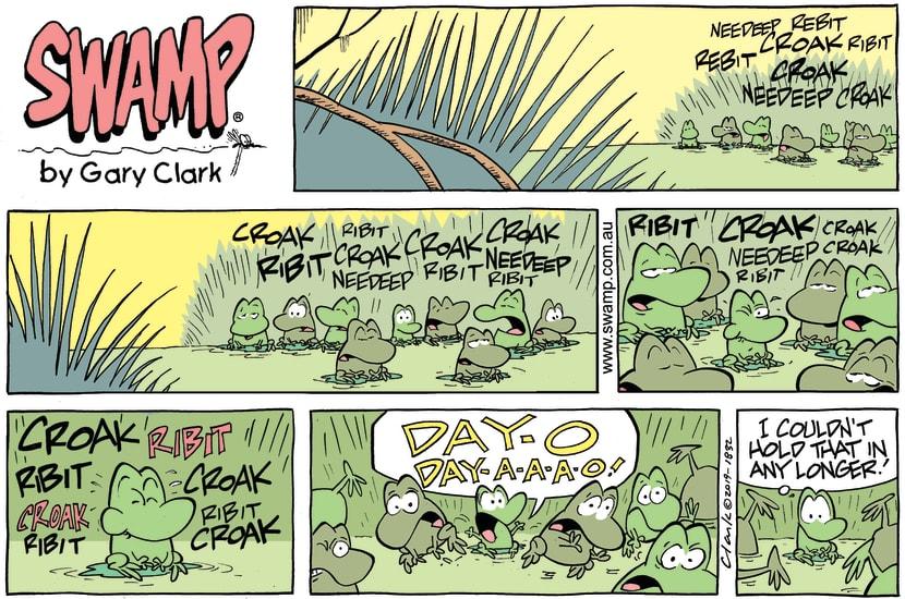 Swamp Cartoon - Swamp Frogs Croak ComicFebruary 3, 2019