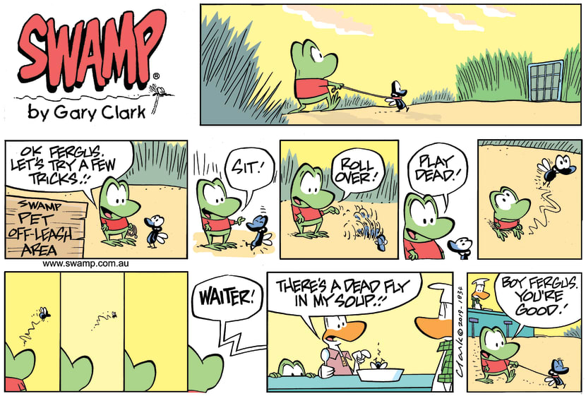 Swamp Cartoon - Fergus Fly Play Dead ComicFebruary 17, 2019
