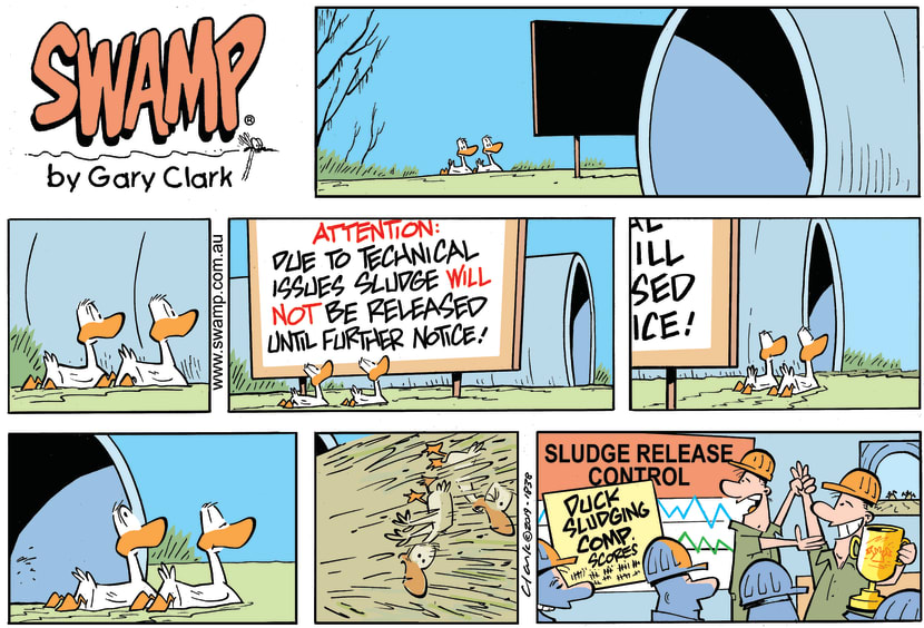 Swamp Cartoon - Ducks Sludge Comp ComicMarch 17, 2019