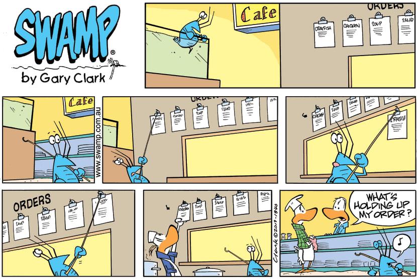 Swamp Cartoon - Bob Crayfish Order Change ComicMarch 31, 2019