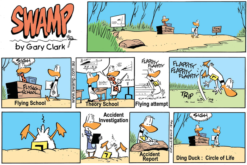 Swamp Cartoon - Ding Duck Circle of Life ComicApril 28, 2019