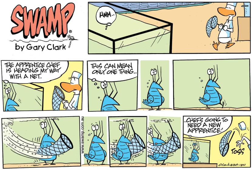 Swamp Cartoon - Bob Crayfish Net ComicMay 5, 2019