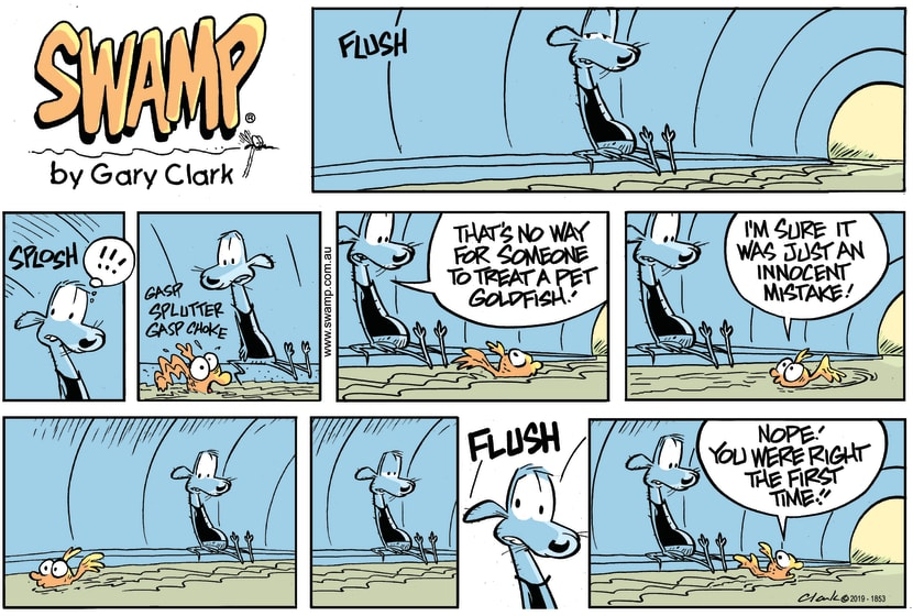 Swamp Cartoon - Pet GoldfishJuly 7, 2019