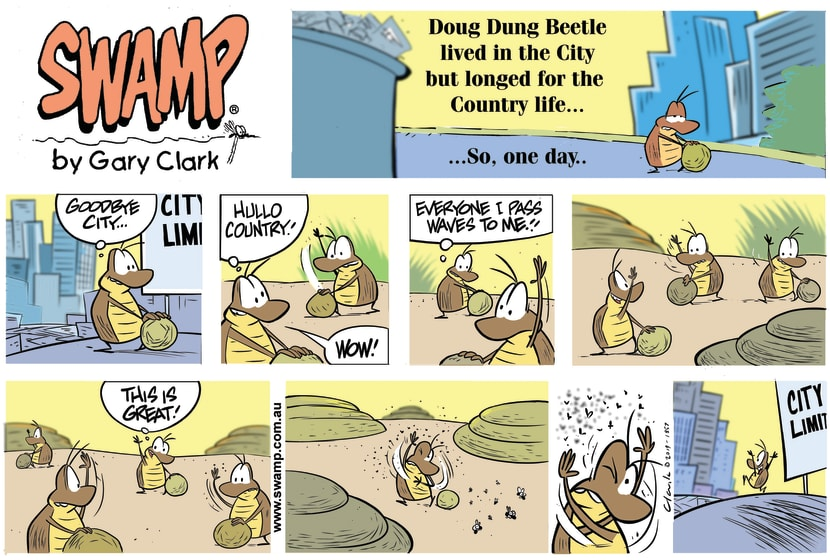Swamp Cartoon - Doug Dung BeetleAugust 4, 2019