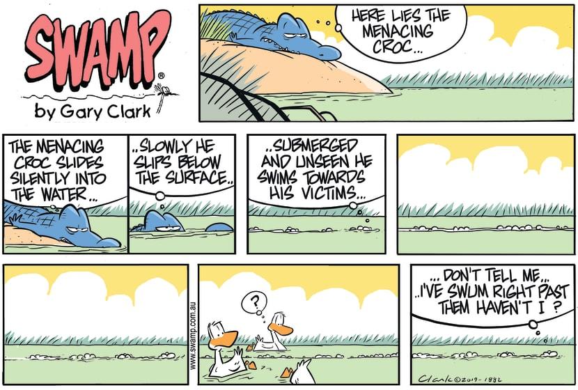Swamp Cartoon - Rogue Croc MenacingFebruary 2, 2020