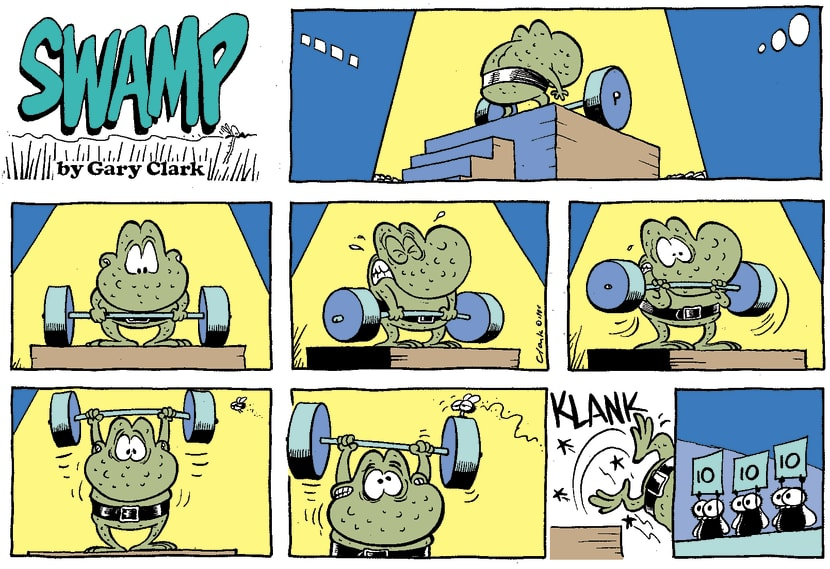 Swamp Cartoon - WeightliftJanuary 1, 1996