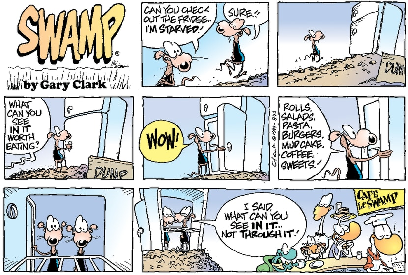 Swamp Cartoon - Almost LuckyJanuary 1, 2000