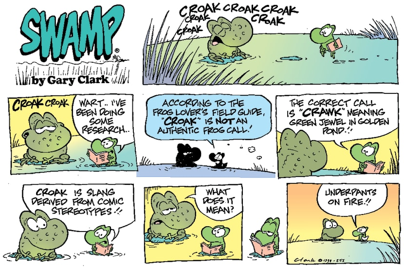 Swamp Cartoon - Proper croakNovember 28, 1999