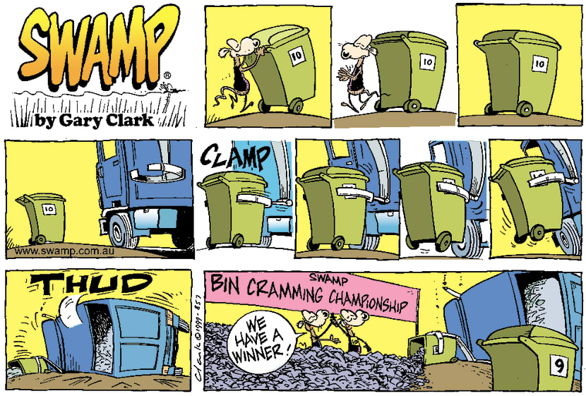 Swamp Cartoon - Wheelie BinDecember 12, 1999
