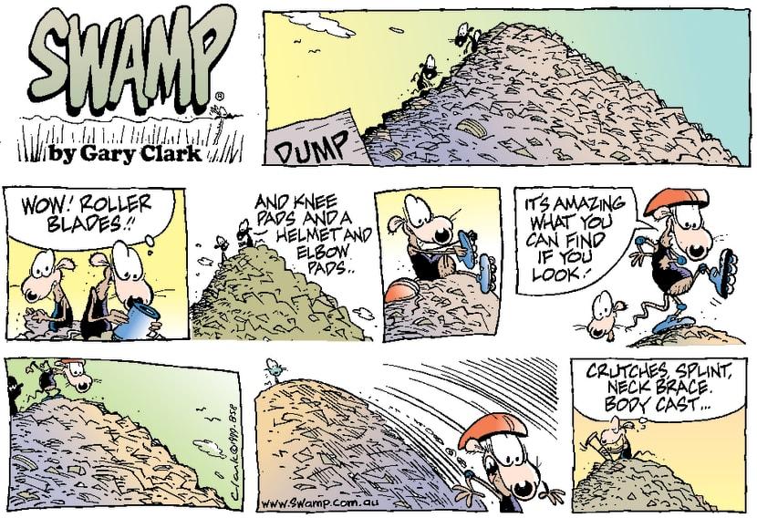 Swamp Cartoon - Rollerblade ScroungingDecember 19, 1999