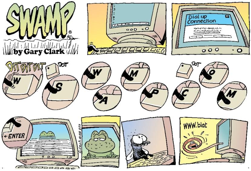 Swamp Cartoon - Web SurfingJanuary 1, 1999