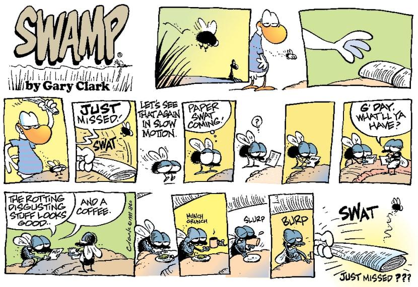 Swamp Cartoon - Killing fliesJanuary 2, 2000